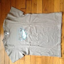 T-shirt Cyrillus taupe Taille 10 ans motif Mini Cooper Manches Courtes