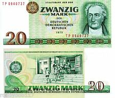 GERMANY EAST (DDR) 20 Marks Banknote World Currency Money BILL p29b 1975 Note