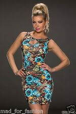 STUNNING SUMMER FLORAL MINI DRESS WITH OPEN BACK.