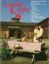 1985 SONOMA COUNTY Wineries Restaurant Menus Lodging Road Maps Events Guide Book