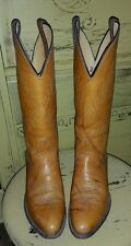JUSTIN 4372 BROWN TALL LADIES COWBOY RIDING WESTERN BOOTS 6.5 C RODEO BEAUTIFUL