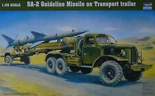TRUMPETER® 00204 Truck w/SA-2 Guideline Missile on Transport Trailer in 1:35