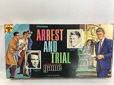 Vintage Transogram Arrest and Trial Board Game ABC TV Show 1963 Complete