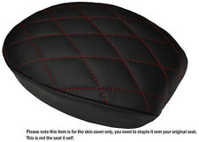 DIAMOND DARK RED ST CUSTOM FITS HARLEY SPORTSTER 883 48 72 REAR LTHR SEAT COVER