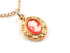Cameo Gold Plated Victorian pendant and chain
