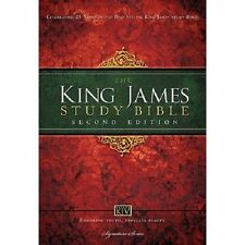 King James Study Bible by Thomas Nelson Publishing Staff (2013, Hardcover,...
