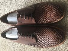 NEW Men's Clarks Grimsby Craft Woven Tan Leather Lace Up Oxford 8.5 M