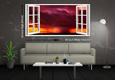 Storm Horizon Panoramic Canvas Print XXL 4.5 ft Wide x 2 ft High 55 in x 24 in