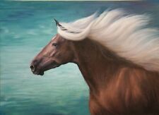 """AWESOME ROCKY MOUNTAIN PONY 13""""x 18"""" HORSE SIGNED PRINT"""