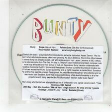 (FU186) Bunty, We Are Here - 2014 DJ CD