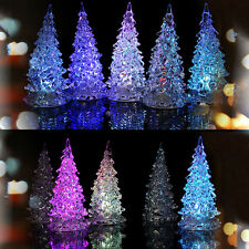 Best Crystal Christmas Tree LED Table Lamp Light Ornaments Decoration Xmas Party