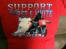 Hells Angels RED AND WHITE Racing Team 81 supporter T-shirt  Small