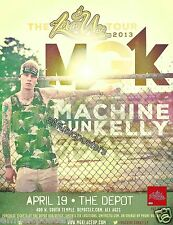 "MACHINE GUN KELLY ""LACE UP TOUR"" 2013 SALT LAKE CITY CONCERT POSTER-HipHop Music"