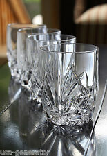 Waterford Glassware Set of 4 Tumbler Glasses 12 Ounce Double Old Fashioned NEW