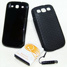 7500mAh Extended Life Battery+Black Cover For Samsung GALAXY S3 I747 i9300 Phone