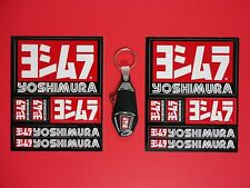 2- AUTHENTIC YOSHIMURA DECAL STICKER SHEETS & RS-4 KEYCHAIN. FREE USA SHIPPING!