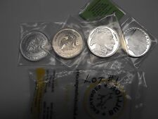 LOT OF 4 - 1 TROY OZ. EACH - 999 FINE SILVER BULLION ROUNDS - LOT #1
