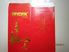 York Chinese New Year Ang Pow/Red Money Packet 2pc