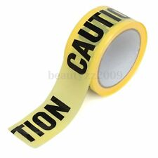 50mx5cm Roll Yellow Caution Tape Sticker For Safety Barrier Police Barricade New