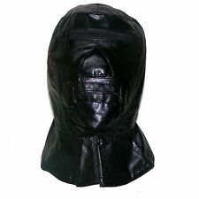 SENSORY DEPRIVATION GUILLOTINE HOOD WITH ZIPS - BONDAGE / FETISH / RESTRAINT