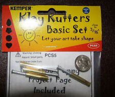 "Kemper Klay Kutters Plunge style cutters the tiniest 3/16"" 1 each of 4 shapes"