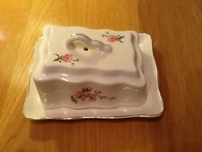 """Really Pretty Vintage Cheese/Butter Dish 7""""x6"""" Flower Design Excellent Condition"""