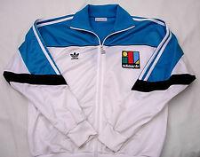 '80 GIACCA TUTA uomo ADIDAS Ivan LENDL, taglia 186, colore Bianco, Vintage.-
