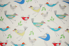 "John Lewis soft furnishing fabric ""Stick Birds"", 100% Cotton, 1.95m length"