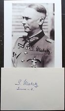 Gerhard Matzky German General Areekrops Divisions Autograph Rare Knight's Cross