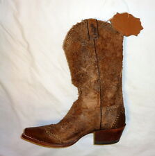 """Sonora SN1042 Size 6B Womens Riley 12"""" Rough-Out Western Cowgirl Boot BROWN"""