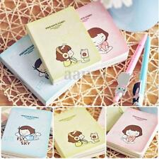 Cute Mini Cookie Girl Diary Notebook Memo Journal Notepads Stationery Pocketbook