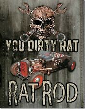Legends Dirty Rat Rods Garage Hot Rod Retro Muscle Car Wall Decor Metal Sign New