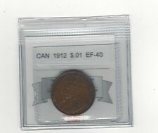 **1912**,Coin Mart Graded Canadian, Large One Cent, **EF-40**
