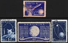 ROMANIA 1959 RUSSIA early in SPACE  x2 SETS ASTRONOMY, DOGS  A8