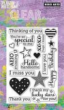 HERO ARTS Clear Stamps YEAR ROUND SENTIMENTS # CL582 MISS YOU THANK YOU BIRTHDAY