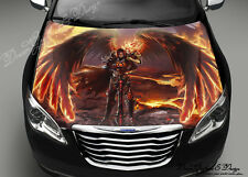 Angel of Fire Full Color Graphics Adhesive Vinyl Sticker Fit any Car Bonnet #194