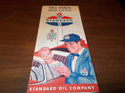 1950s Standard Oil Toll Roads illinois and East Vintage Road Map