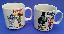 Rocky & Bullwinkle Snidely Whiplash & Dudley Do-Right Coffee Mugs  2pc Set