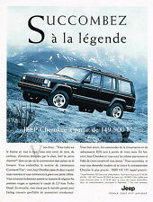 PUBLICITE ADVERTISING 094  1996  JEEP CHEROKEE  2.5L TURBO DIESEL