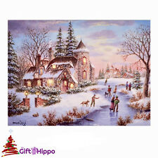 Christmas Decorations - Christmas LED Light up Canvas Picture - 40cm x 30cm - N1