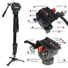 Professional Heavy Duty Fluid Head kit DSLR DV Video Camera Tripods Camcorder