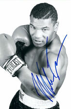 Framed Print - Iron Mike Tyson with Autograph (Replica Picture Poster Boxing Art