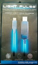 New PILOT EL-1400B ELECTROLUMINESCENT CHARGE SYNC GLOW CABLE FOR MICRO USB BLUE