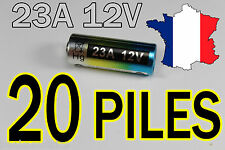 20 PILES 12V 60mAh 23A A23 23AE MN21 TELECOMMANDE PORTAIL ALARME COLLIER CHIEN