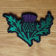 Motorcycle Biker Cloth Patch Leathers Denim Waist Coat Scottish Thistle Scotland