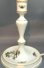 Vintage HEREND Hungary 'ROTHSCHILD BIRD' CANDLESTICK / CONVERTED LAMP  7916/RO