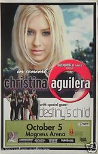 CHRISTINA AGUILERA / DESTINY'S CHILD 2000 DENVER TOUR POSTER -Beyonce, Pop Music