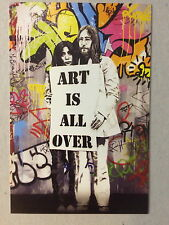 MR BRAINWASH,'Art is all over' Lennon/Ono, exhibition promotional card, 2012