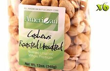 72oz Gourmet Style Bags of Roasted Unsalted Jumbo Whole Cashews [4 1/2 lbs.]