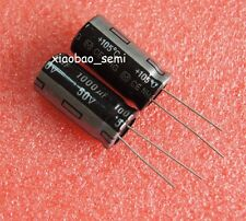 10PCS 1000uF 50V Electrolytic Capacitor 105°C 13x25mm